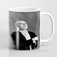 phil jones Mugs featuring Phil Collins by Ann Yoo