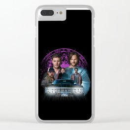Supernatural Family dont end with Blood 2 Clear iPhone Case
