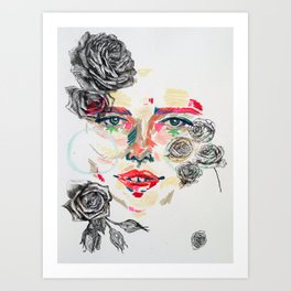 Della Flowers Art Print