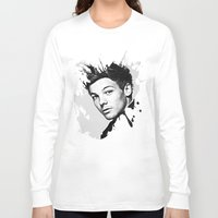 louis tomlinson Long Sleeve T-shirts featuring Louis Tomlinson by D77 The DigArtisT