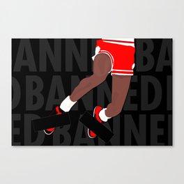 Banned (Black) Canvas Print
