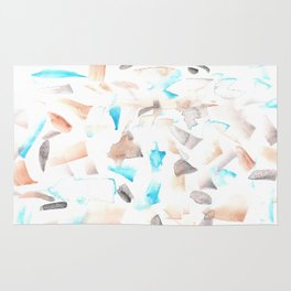 180515 Abstract Wp 3| Watercolor Brush Strokes Rug