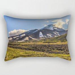 Looking at a Volcano Rectangular Pillow
