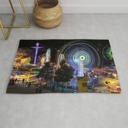 Fairground Attraction panorama Rug