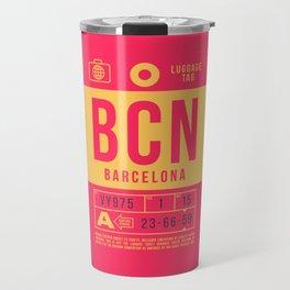 Luggage Tag B - BCN Barcelona Spain Travel Mug