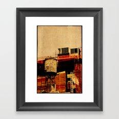 New York water tower Framed Art Print