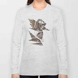 Origami Girl Long Sleeve T-shirt
