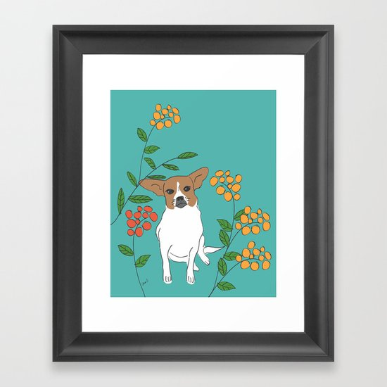 Brown dog Framed Art Print
