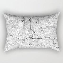 Atlanta City Map Gray Rectangular Pillow