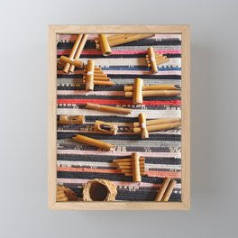Azores islands handicraft Framed Mini Art Print