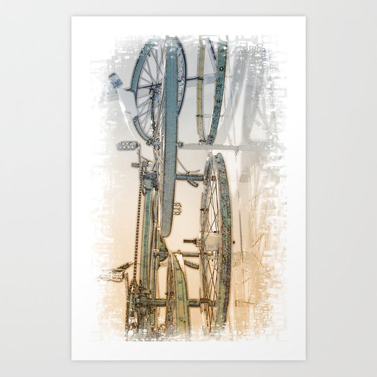 Rusty Blues Art Print