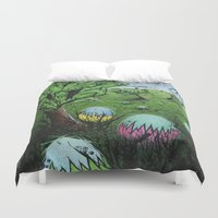 eggs Duvet Covers featuring Eggs by chris panila