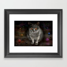 Superstarmodelcat Diesel Framed Art Print