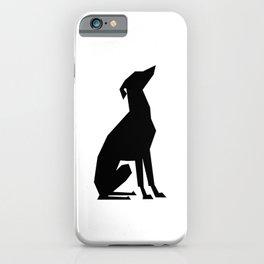 Italian Greyhound Silhouette iPhone Case