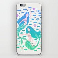 Koi Mermaids – Turquoise Ombré Palette iPhone Skin