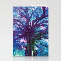 arya Stationery Cards featuring Arya - The Tree of Life by earthspiritartdesign