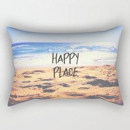 Happy Place Beach Rectangular Pillow