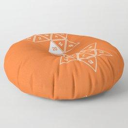 Orange Unrolled D20 Floor Pillow