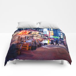 Shinjuku alley Comforters