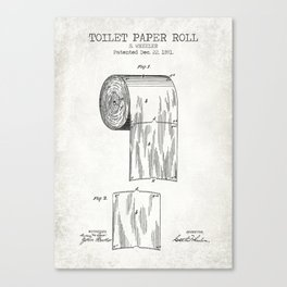 Toilet Paper Roll Old Canvas Canvas Print