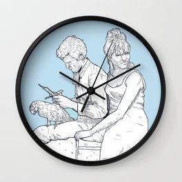 Pierrot le fou (Jean-Paul Belmondo Anna Karina)  Wall Clock