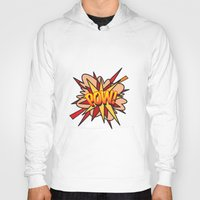 comic book Hoodies featuring Comic Book POW! by Thisisnotme