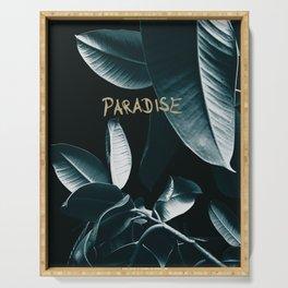 Ficus Elastica PARADISE #1 #decor #art #society6 Serving Tray