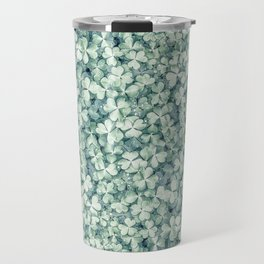 Clover shamrock leaf art, green leaves pattern Travel Mug