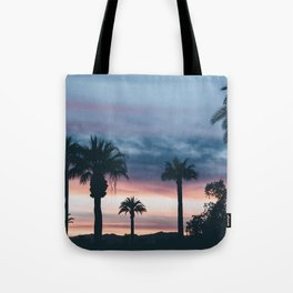 Palm Tree Sky Sunset Tote Bag