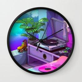 Vaporwave Aesthetic Wall Clock
