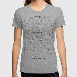 Jacksonville street map T-shirt