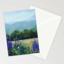 Delphiniums with Mtn View Stationery Cards