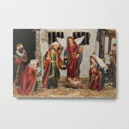 My German Traditions - Christmas Nativity Scene Metal Print