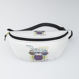 Striped Owls Fanny Pack