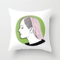 ellie goulding Throw Pillows featuring Ellie by Iiris Ella