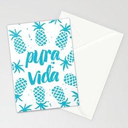 Pura Vida Pineapples in Blue Stationery Cards