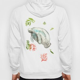 Manatee and Coral  Hoody