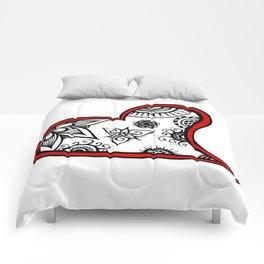 Tangled heart Comforters