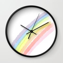 Happy Little Rainbow Wall Clock