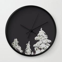 A Pacific Northwest Winter Night Wall Clock