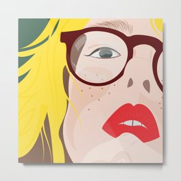 GlassesGirl Metal Print