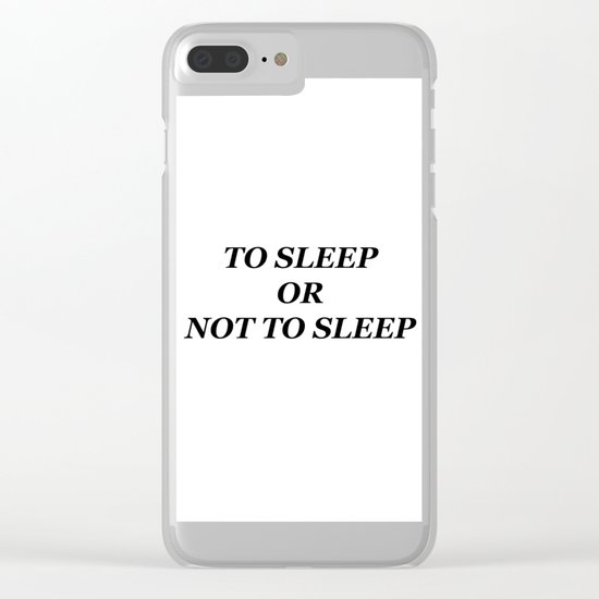 Sleep Clear iPhone Case