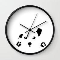 puppy Wall Clocks featuring Puppy by Kristijan D.