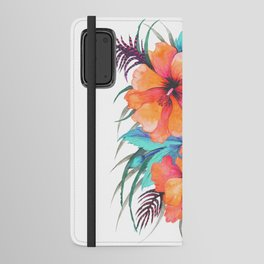 TROPICAL FLOWER {orange hibiscus}  Android Wallet Case