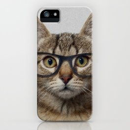Hipster Cat iPhone Case