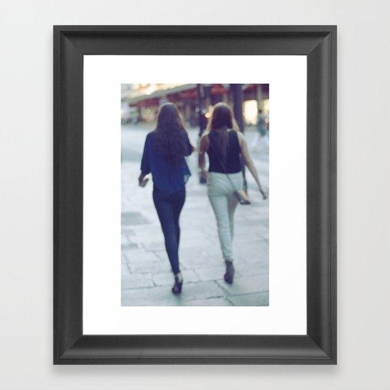 City Walking Framed Art Print