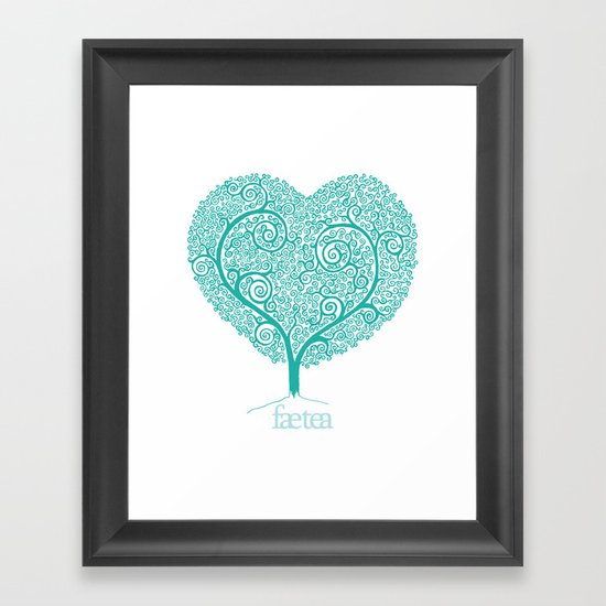 Love Growing Framed Art Print