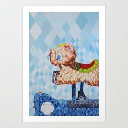 El Cerdofante Volador, The Flying Pigphant Art Print