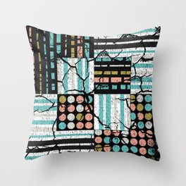 Distressed pattern Throw Pillow
