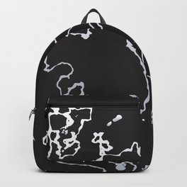 Black and White Marble Backpack